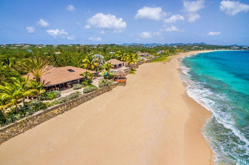 BLUE BEACH VILLA... comfortable villa on a fantastic soft, white sand beach! - Image 1 - Baie Longue - rentals