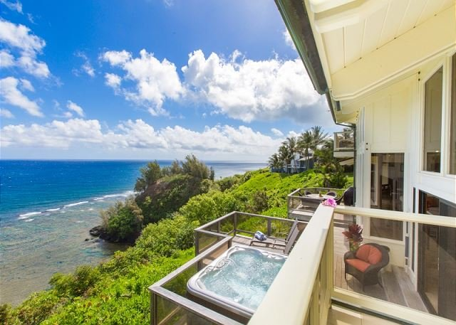 Spectacular Ocean Bluff Home in Princeville!! Panoramic ocean views!! - Image 1 - Princeville - rentals