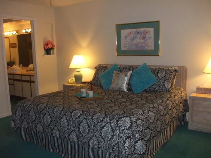 Master Bedroom (King) Flat Screen TV with Cable and Free WiFi - 99nt*Strip*Walk-In*2 Kings*Sleeps 8*Pools*Hot Tub* - Branson - rentals