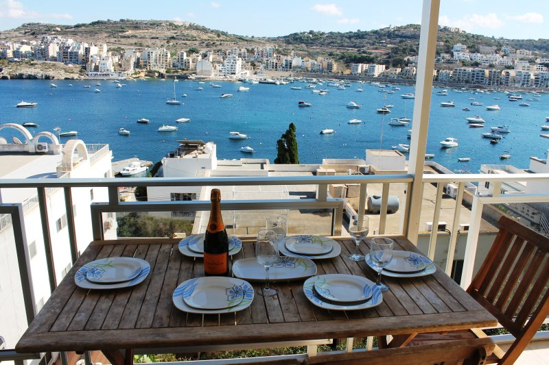 View of the bay from the large terrace - Bay View - Saint Paul's Bay - rentals