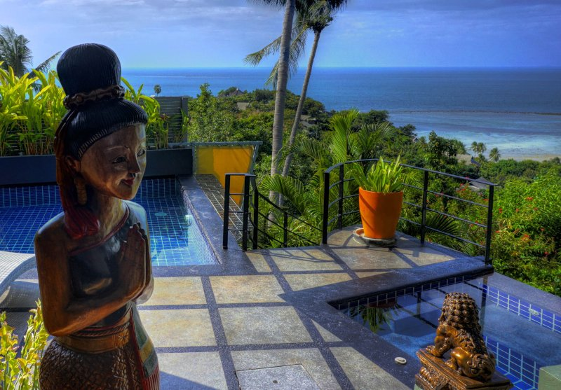 Outstanding oceans views from throughout Villa Emerald  - Outstanding Ocean View, 1 Bed Villa with a Car - Koh Samui - rentals