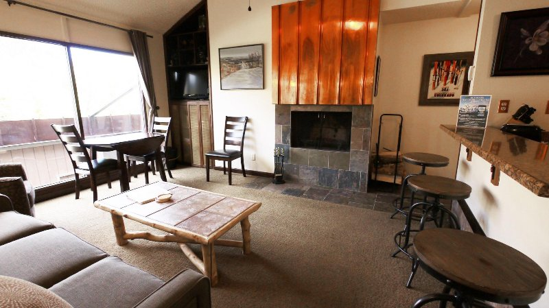 "SkyRun Property - ""SF204 Snowflake"" - Spacious Living Room - Wood Burning Fireplace with Flat Screen TV - SF204 Snowflake - Copper Mountain - rentals"