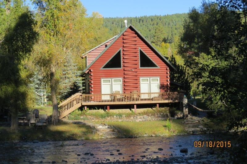 Cabin Front Facing San Juan River - San Juan Riverfront Log Home aka 'The Lazy Bear' - Pagosa Springs - rentals