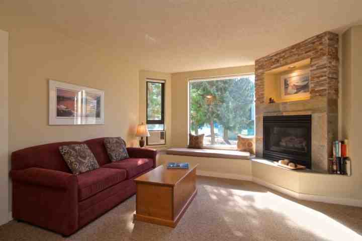 Lovely living room. New sofa purchased 2016 - The Marquise 317 Ski in/ out 1 Bedroom condo - Whistler - rentals
