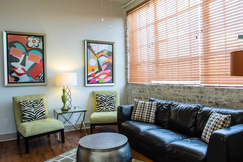 Eclectic industrial living space  - Luxury French Quarter Rental 50 ft off Bourbon w/Pool & Gym - Maisonette Marie - New Orleans - rentals