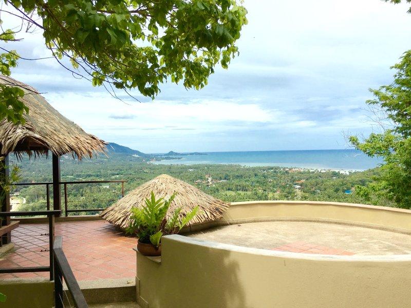 Ocean view from rooftop terrace. - Hill Top Ocean View in Koh Samui Thailand - Maret - rentals