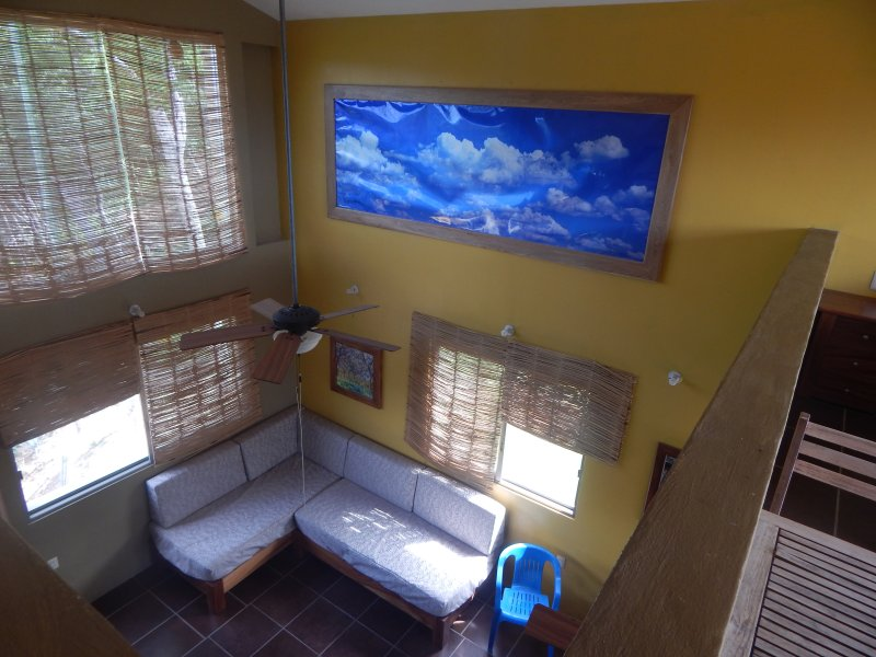 Penthouse living room as seen from Loft Bedroom with ocean view. - Heavenly Villa near the beach - Huatulco - rentals