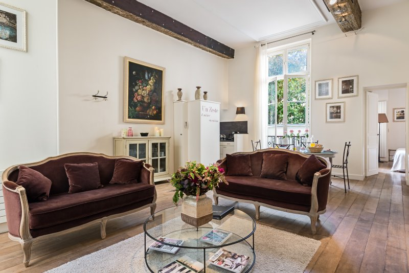 Living room view one - Ile Saint-Louis Gorgeous Two Bedroom - Paris - rentals