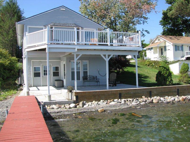 View from dock - Vineyard Cottage on Cayuga Lake - Finger Lakes, NY - Cayuga Lake - rentals