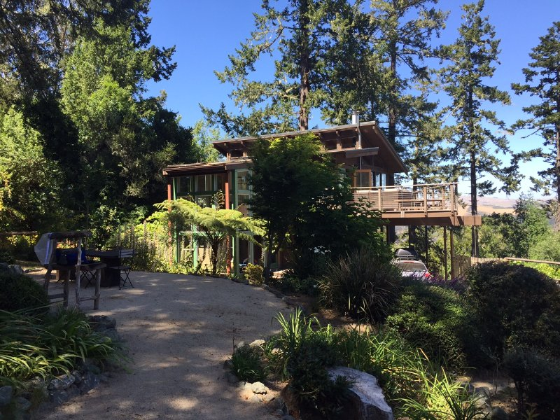 Garden with view of the house - Smart Four Bedroom with Views Surrounded by Nature - Olema - rentals