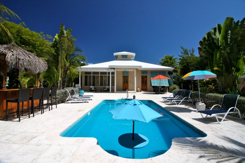Awesome back yard - BAREFOOT PALMS,  Kick Back and Relax Tiki Style! - Providenciales - rentals