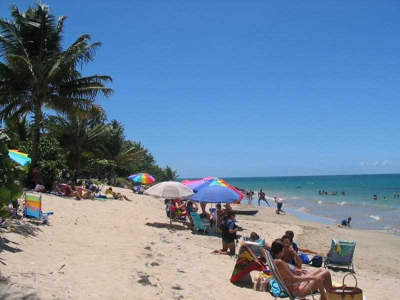 View of the beach - Getaway beachfront resort vacation condo rental - Loiza - rentals