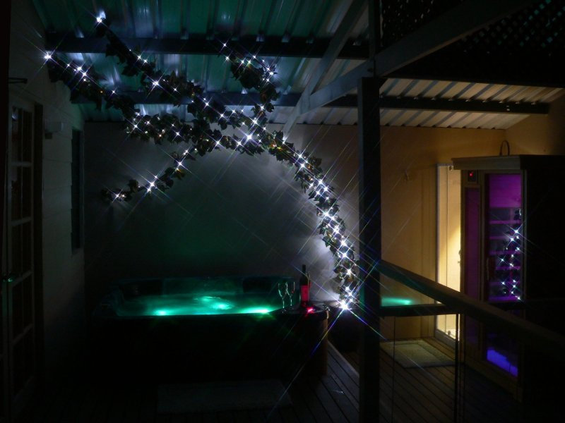 "Spa and sauna on ""Tea Tree"" balcony - Mumbles Stays - Balingup - rentals"