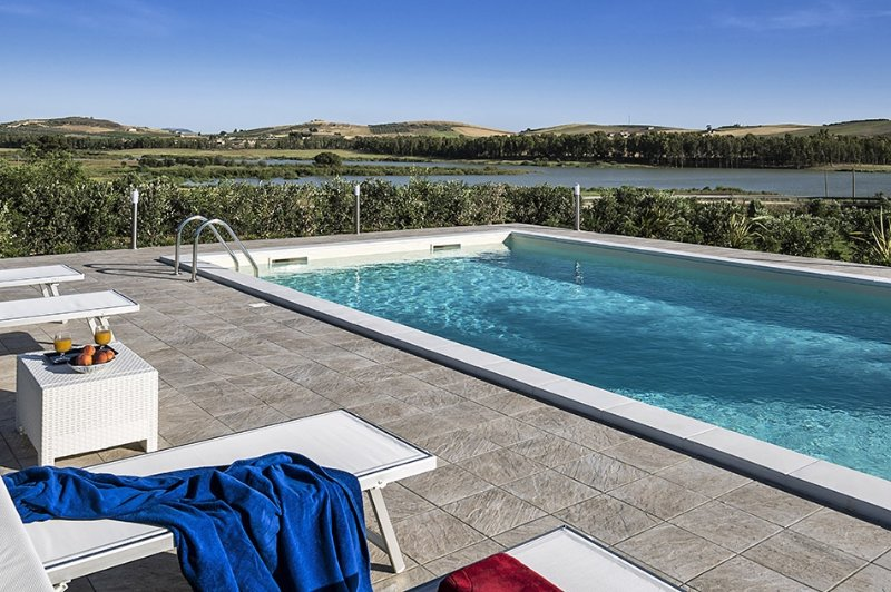 Villa Juno holiday vacation villa rental italy, sicily, trapani, pool, view, air conditioning, wi-fi, near erice, short term long t - Image 1 - Paceco - rentals