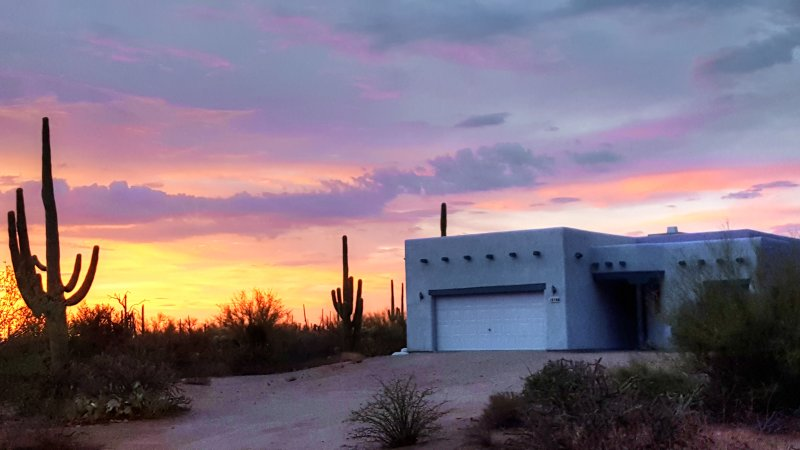 Home At Sunset - Nature Desert Home In The Saguaro Forest West Tucson - Tucson - rentals
