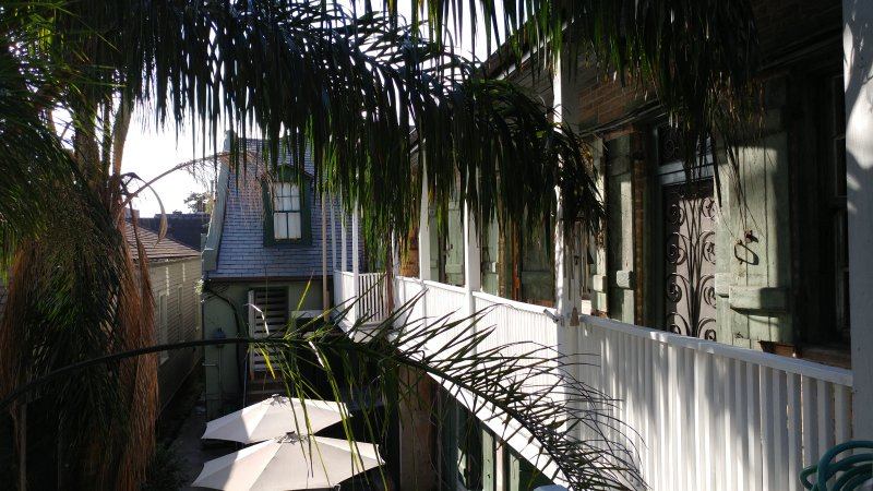 View of balconies and steps leading to condo. Your balcony is closest to steps. - Our Little French Quarter Camp: charming & Cozy! - New Orleans - rentals