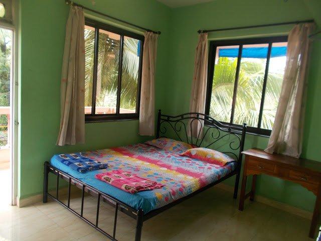 Bedroom 1 - Ashirwaad Holiday Apartments - ac 2BHK apartment - Benaulim - rentals