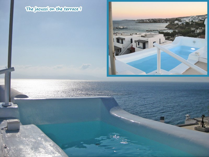 Terrace - the outdoor jacuzzi !! (1) - Seaside 2-Storey Villa with Large Terrace/Jacuzzi - Piso Livadi - rentals