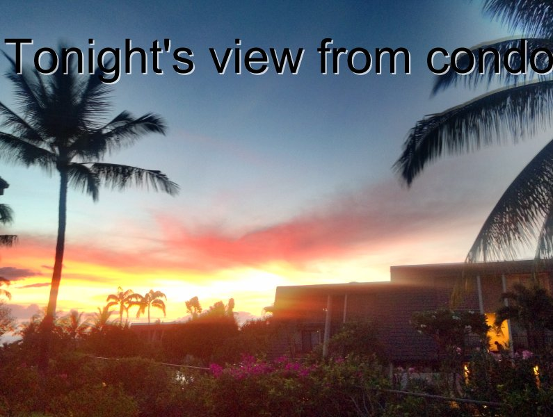 View from rear Lanai - Maui Hill Resort - Kihei - rentals