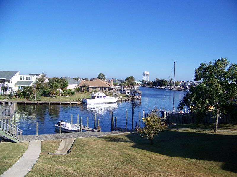 Great view from outdoor patio.  - Marina Breeze ~ Lovely Waterfront Condo, Boat Slip - Slidell - rentals