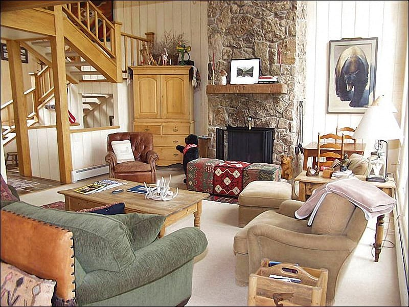 Living Room - Large Deck with incredible views! - 2 Master Suites (1415) - Snowmass Village - rentals