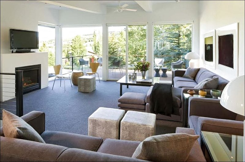 Main Living Area - Beautiful Mountain Contemporary Home - Designer touches throughout (1422) - Snowmass Village - rentals