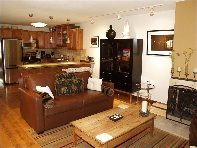 Living Room and Kitchen - Newly Remodeled Condo - Comfort and Convenience (4277) - Aspen - rentals