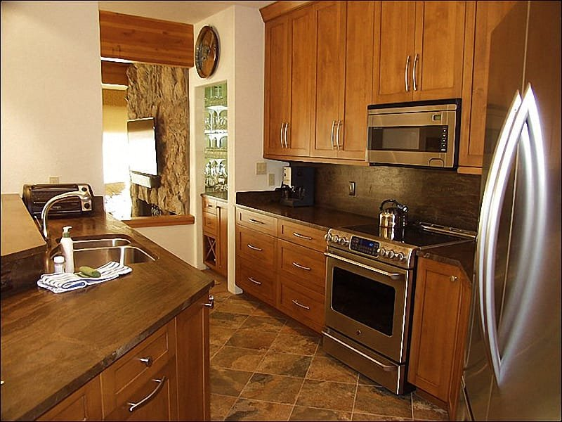 Newly Remodeled Kitchen (2013) - Aspen Core - Exclusive Roaring Fork Riverfront Town Home (7931) - Aspen - rentals