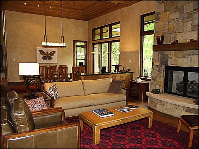 Large, open living area - Stunning Dave Gibson Home - Backs to National Forest (9174) - Aspen - rentals