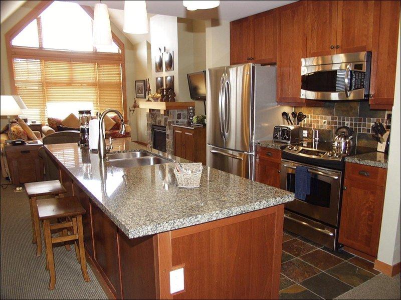 Kitchen and Living Area - Top Floor Corner unit in Capitol Peak B - Wrap around Deck (9325) - Snowmass Village - rentals