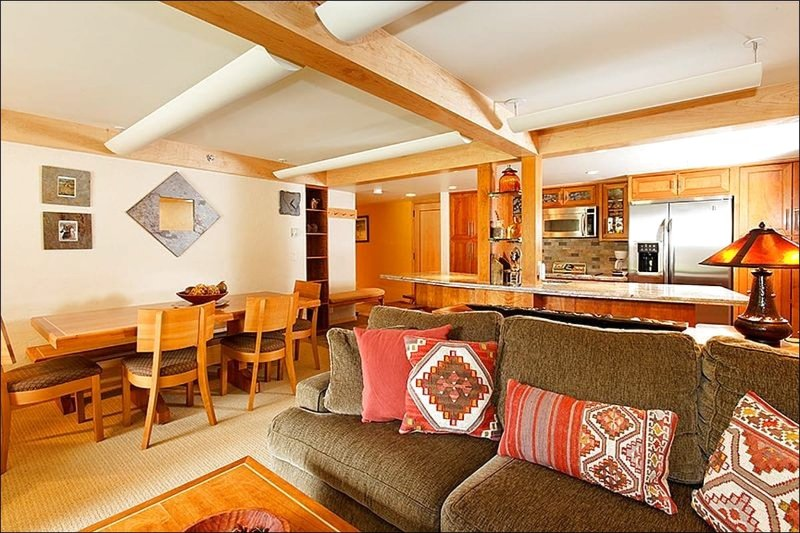 Main Living Area - Mountain and Ski Slope View from Deck - Business Center (9548) - Snowmass Village - rentals