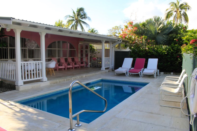 Lovely pool and veranda - PINK VILLA – NEW PRIVATE POOL - GREAT LOCATI - Holetown - rentals