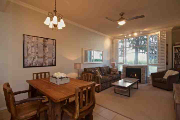 Beautiful living space with dining for 4, and lovely living room - Glacier Lodge condo#105 - Whistler - rentals