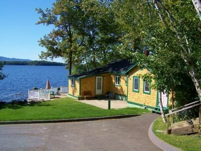 Cottage on Mosoehead Lake on Waters Edge - #109 Moosehead Lake cottage with a deck literally `on the water` - Greenville - rentals