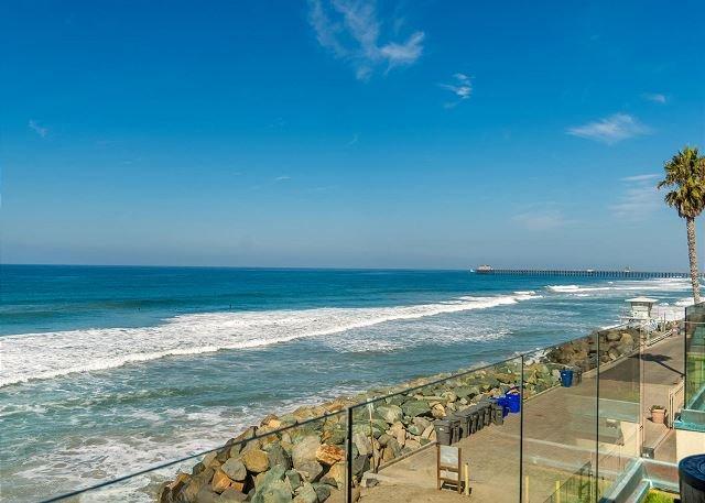 7br/7ba Luxury Oceanfront Retreat, Oceanview Decks, Spa, BBQ, A/C - Image 1 - Oceanside - rentals