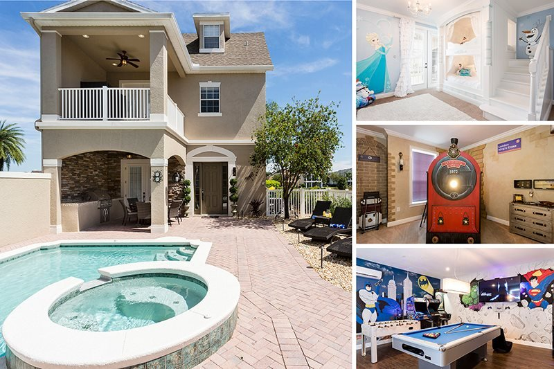 Magical Luxury | 6 Bed Villa with New Furnishings (Aug 2015), Movie Theater, Theme Rooms with Custom Bunk Beds, Games Room with Arcade Games & Luxury Throughout - Image 1 - Kissimmee - rentals