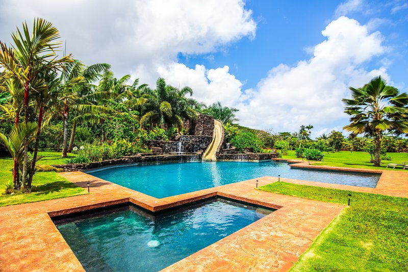 Need We Say More... - Kauai Fun House - Huge Pool With Slide - 5 Bedroom - Kilauea - rentals
