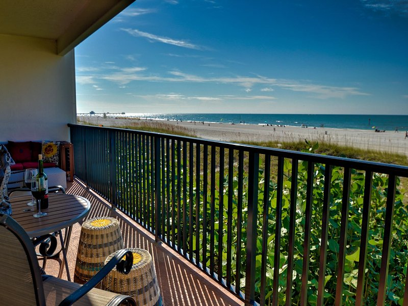 Fantastic gulf views right from your balcony - Surfside Condos - Beach Front Clearwater Beach 202 Beachfront Condo - Clearwater Beach - rentals