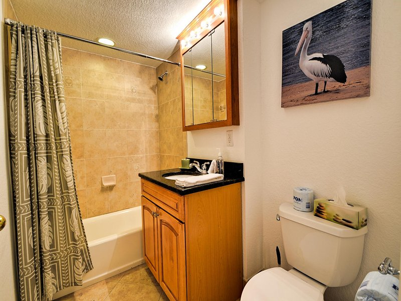 Guest bathroom is close to bedroom three and the living room - Dockside Condos 304 with balcony Waterfront Condo | 3 Bedrooms 2 Baths | Balcony | - Clearwater Beach - rentals
