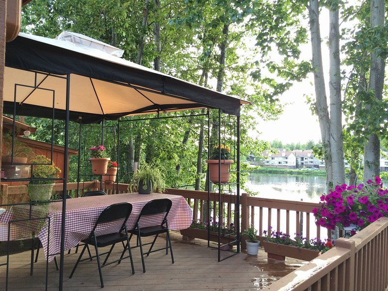 Deck at the Reflection Lake - Reflection Lake Rental  (with lake/Mountain Views) - Anchorage - rentals