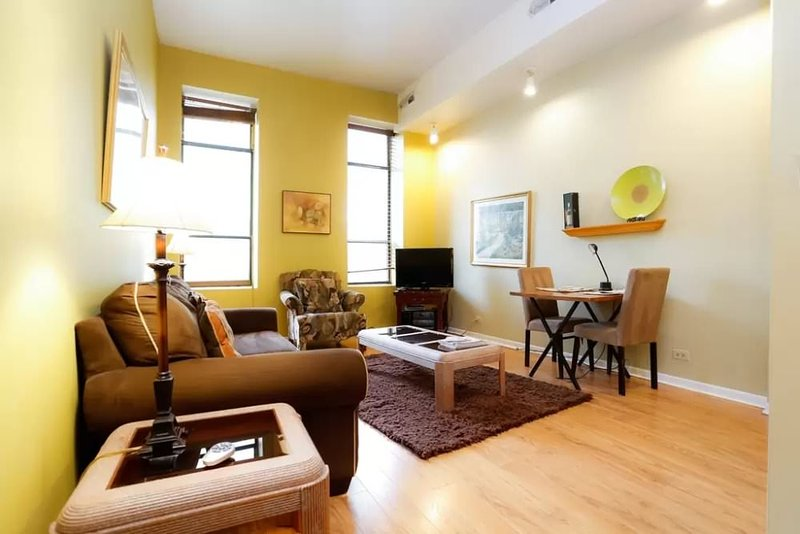 VIBRANT AND SPOTLESS FURNISHED 1 BEDROOM 1 BATHROOM APARTMENT - Image 1 - Chicago - rentals