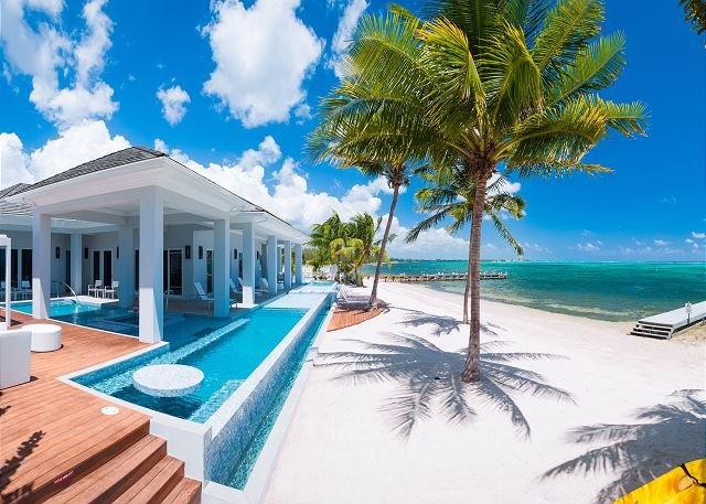"""View Looking East - Luxury 6BR Oceanfront Estate with 150' Pool and 2 Hot Tubs - """"Point of View"""" - George Town - rentals"""