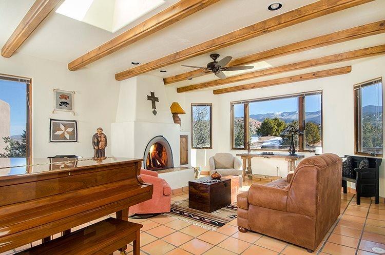 Living Room - Adobe Destinations - Casa de Paz - Santa Fe - rentals