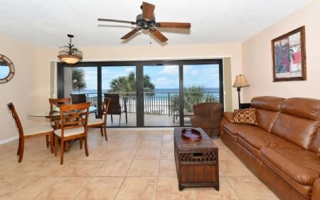 Living Room with Full Beach Views! - Firethorn 330 - Siesta Key - rentals