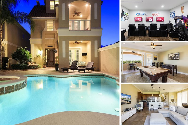 Magical Sunset Villa   Amazing Pool Villa with 2 Game Rooms, Slate Pool Table, 10 TVs throughout home and 3 Stories of Balconies with Amazing Views - Image 1 - Reunion - rentals