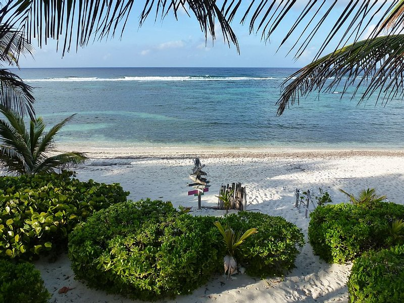White Sandy Beach at your doorsteps - Beautiful Ocean Front Villa with White Sandy Beach - North Side - rentals