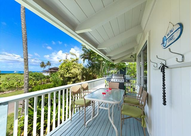 Steps to Beautiful Hanalei Bay with ocean views!!  15% off Fall Dates!! - Image 1 - Hanalei - rentals