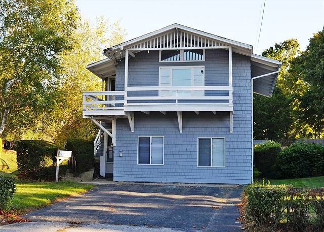 Exterior from the road. - Beach Walk: Good Harbor Beach footbridge just steps away! - Gloucester - rentals