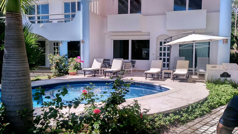 Beautiful Pool and Gardens - 5 BDR Villa Steps to Beach! Lowest Price in Area - Playa Paraiso - rentals
