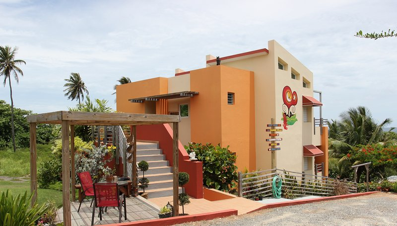 Fusion Beach Villas: front of building - Fusion Beach Villas Boutique Suite - Stay*Love*Play at Jobos Beach in Isabela PR - Isabela - rentals